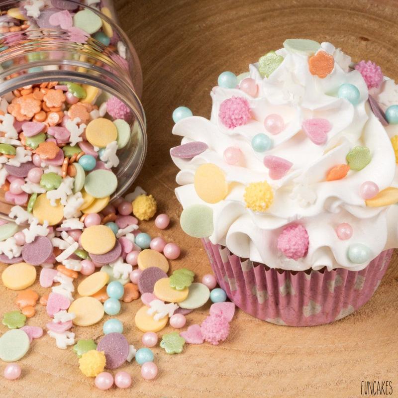 Mélange Décors en sucre Licorne 180g Funcakes