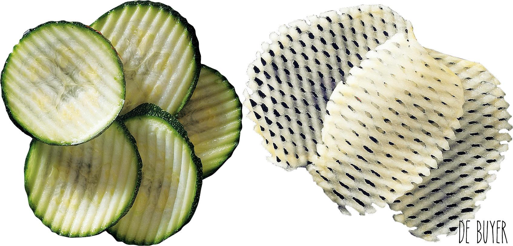 Différentes coupes : ondulées et gaufrées