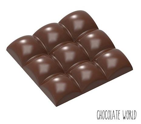 Moule Chocolat Tablette 9 Carrés Bombés