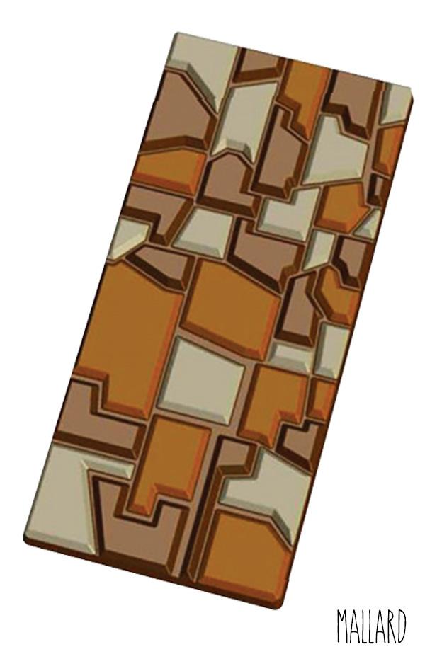 Moule Tablette de Chocolat Patchwork