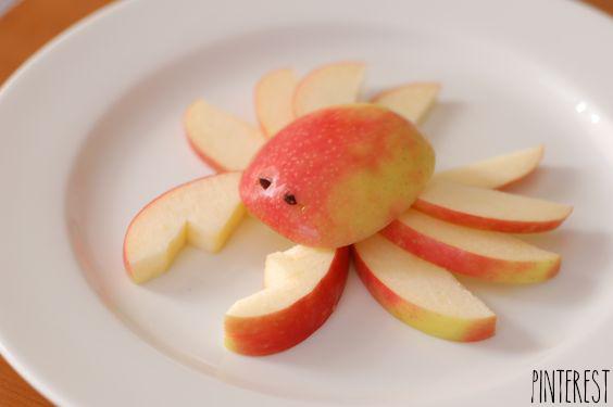 Crabe formé de pomme