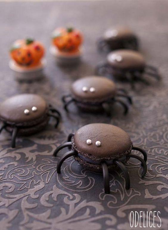 Macarons Araignées