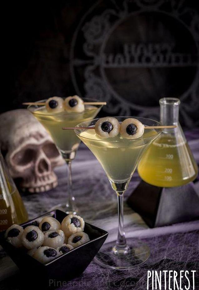 Cocktail Halloween Yeux Litchi