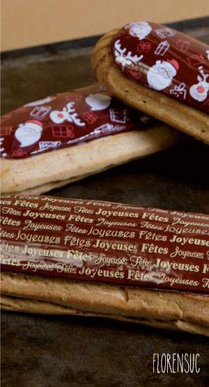 Éclairs décorés de Pâte à sucre