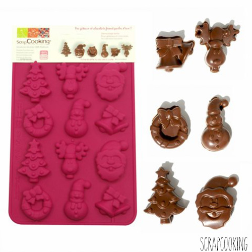 Moule à Chocolat Friture de Noël (x12) Scrapcooking