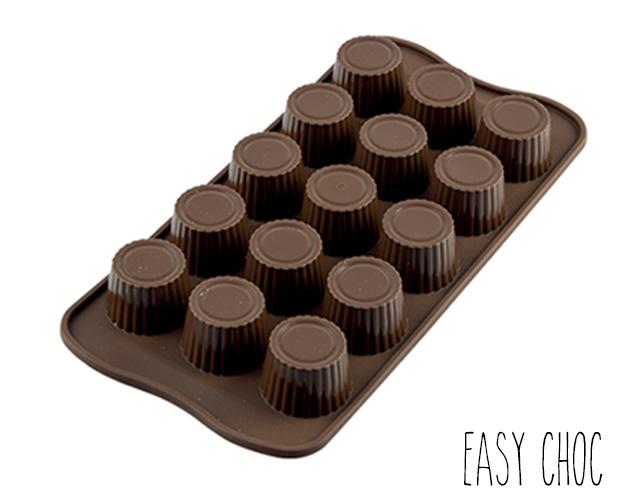 Moule à Chocolat 15 Ronds Nervurés Easy Choc - Silicone Spécial Chocolat