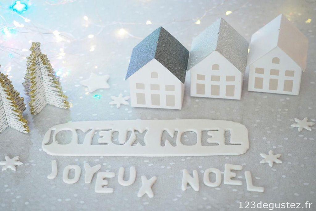 Comment réaliser un Décor en Pâte à Sucre pour Noël ?