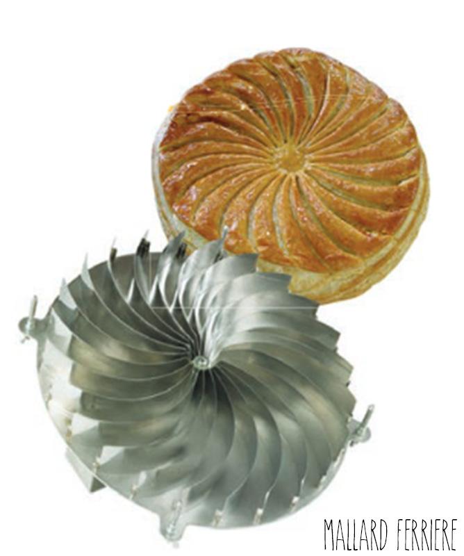Découpoir Galette Spirale en Inox 28 cm