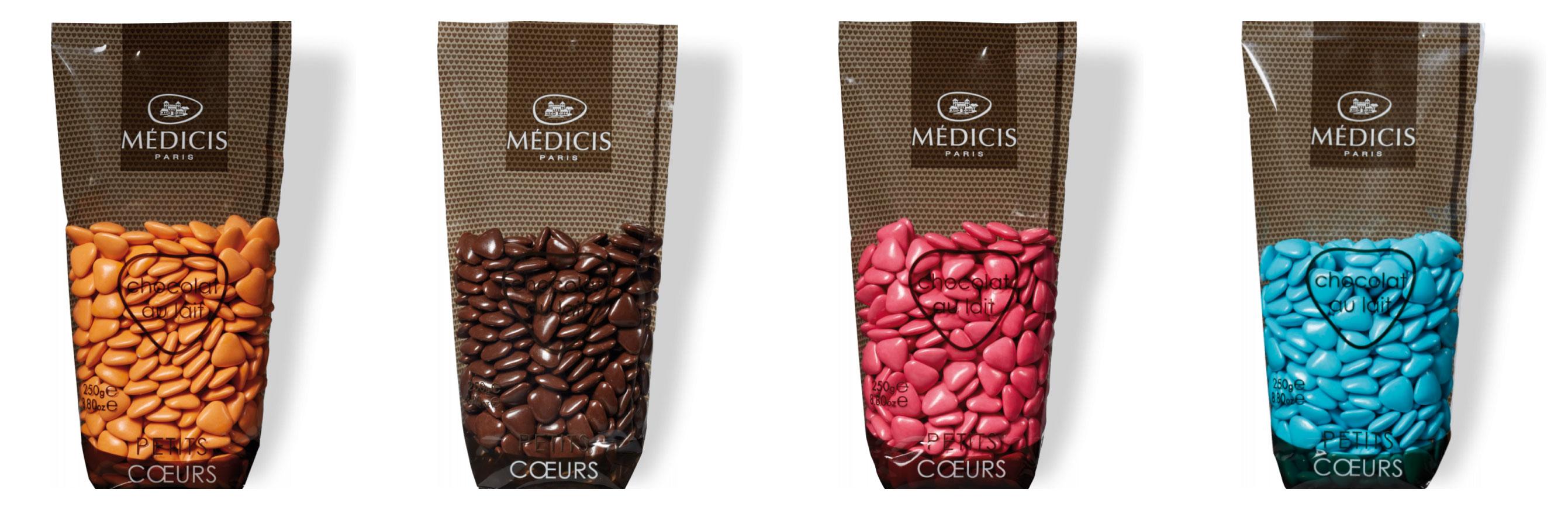 Dragées Chocolat au Lait Petit Coeur Médicis