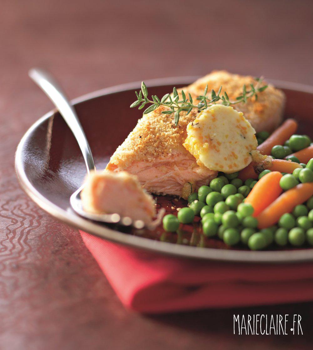 Réalisez cette délicieuse recette de saumon grillé et sa chapelure d'amande