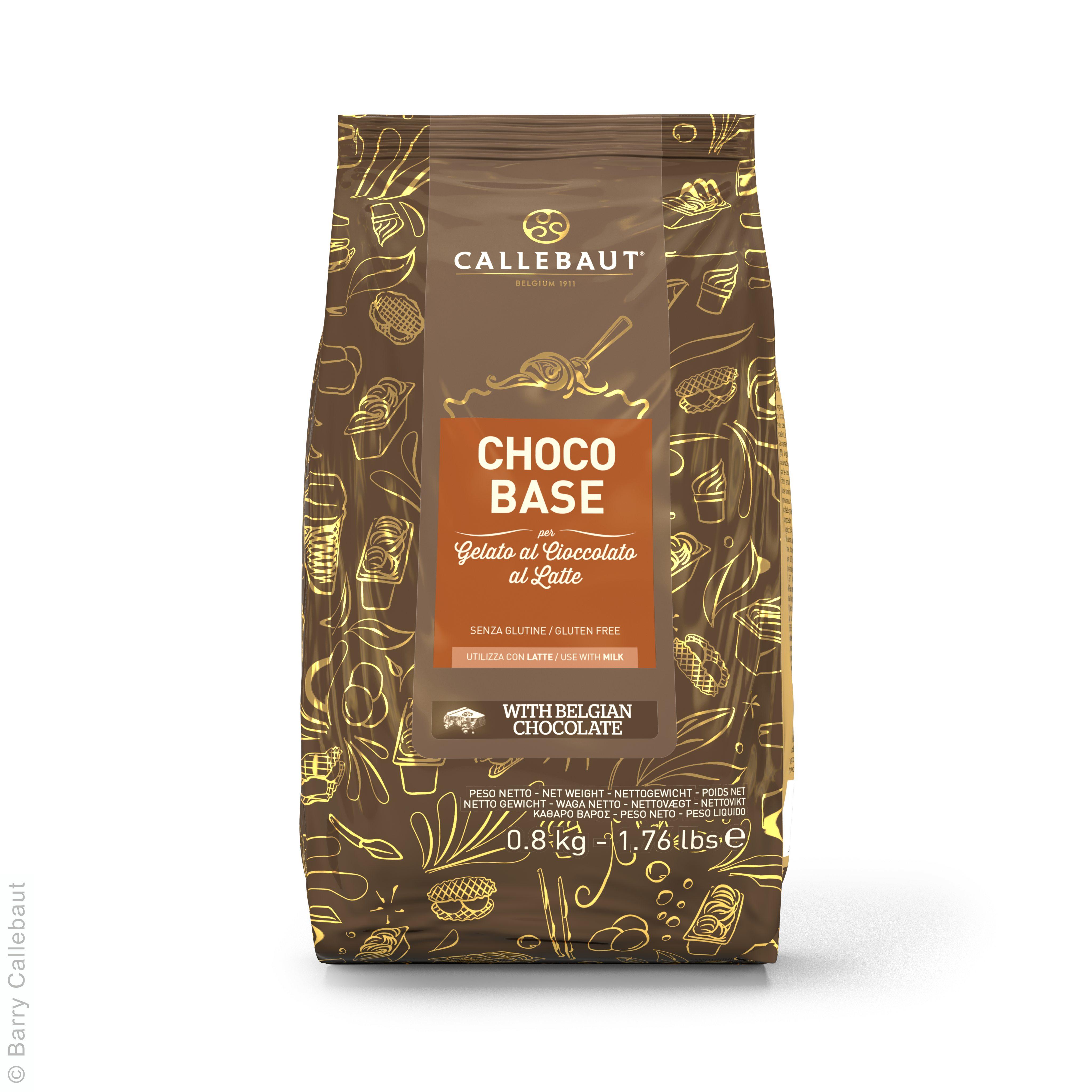Choco Base pour Glace au Chocolat au Lait 800g Callebaut