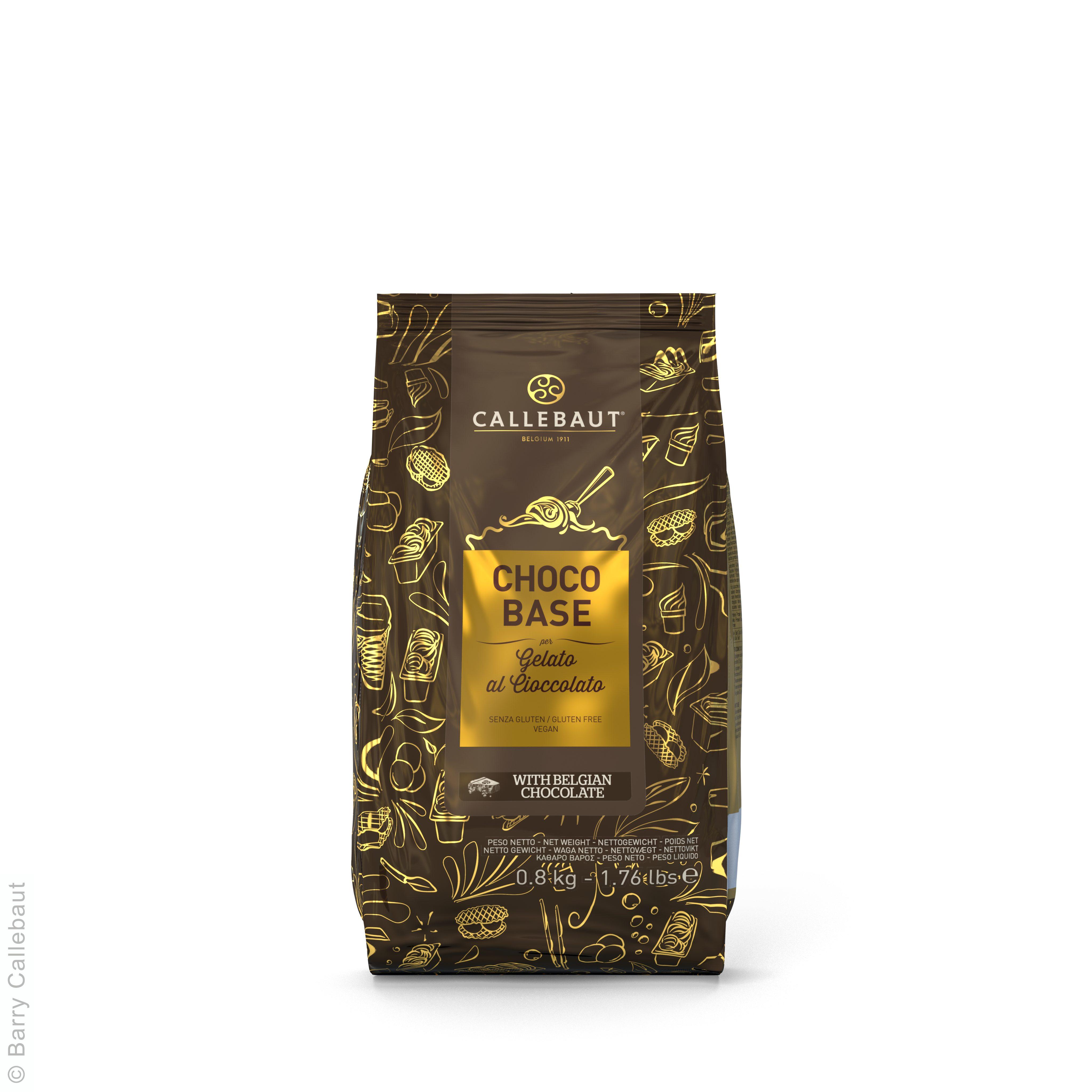 Choco Base pour Glace au Chocolat Noir 800g Callebaut