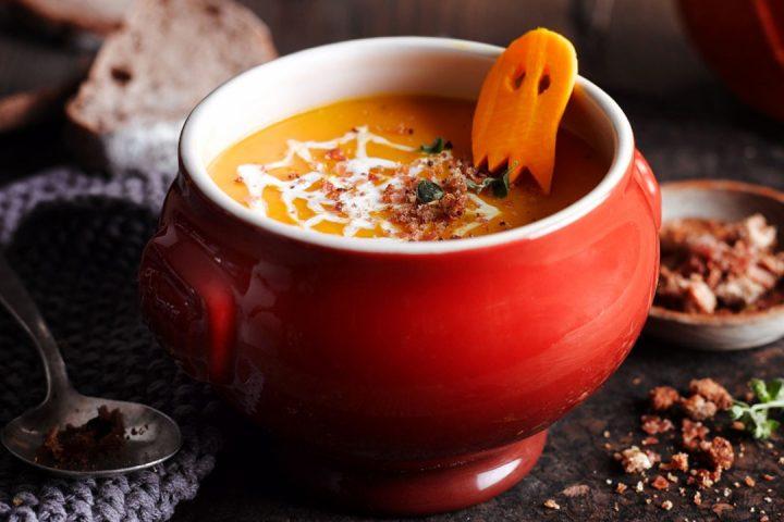 Soupe de potiron et son crumble