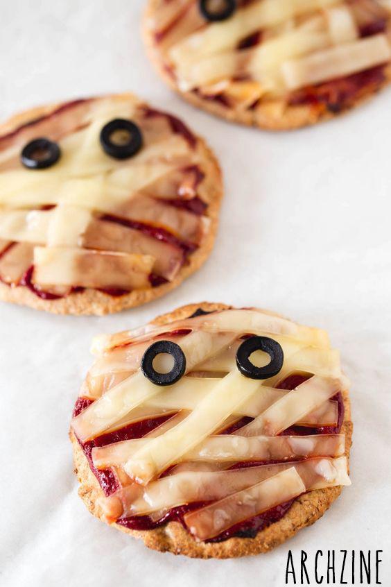 Pizza Halloween Momie