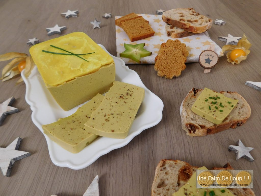 Foie gras végan découpé, prêt à être dégusté !