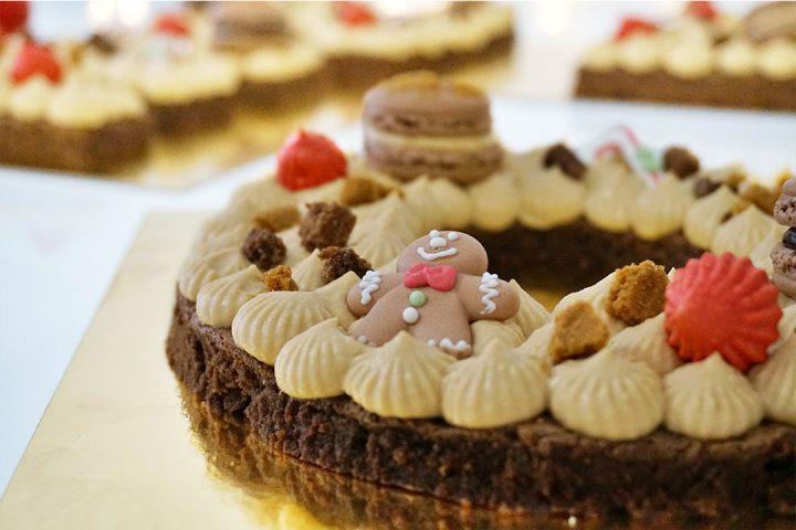 Letter Cake Noël Brownie et Spéculoos