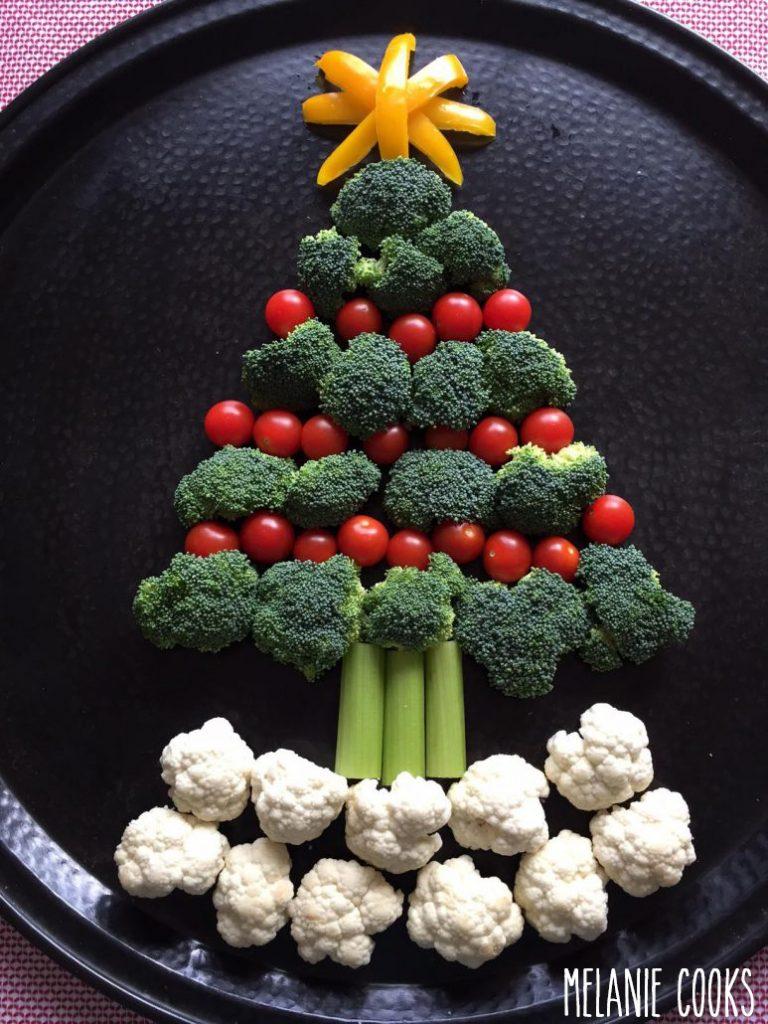 Sapin de légumes idéal pour les végétariens.