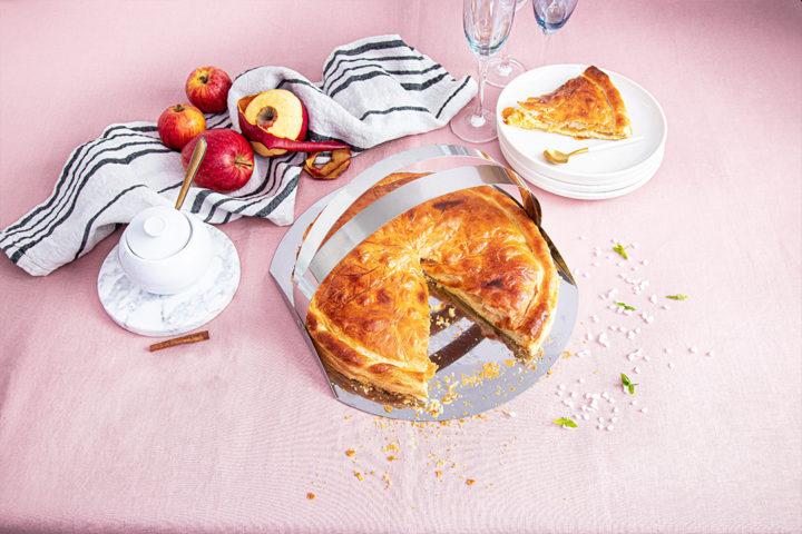 Galette des rois pommes et caramel beurre salé