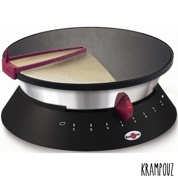 """Crêpière Krampouz Diabolo avec système """"easy crep""""."""