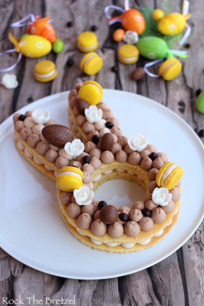 Gâteau rigolo lapin aux ganaches gourmandes.