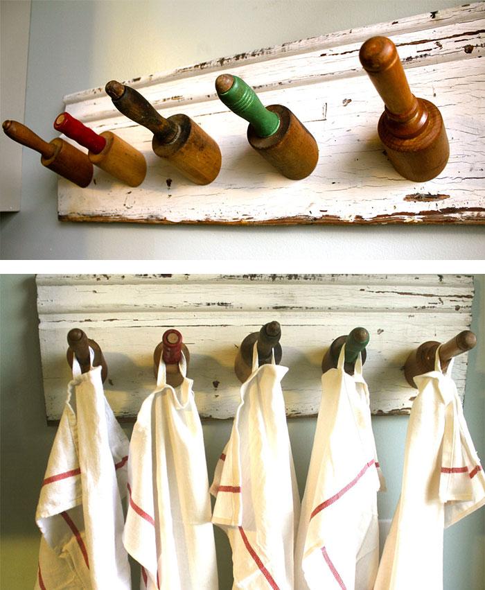 Porte-manteaux unique avec vos Rouleaux à Pâtisserie.