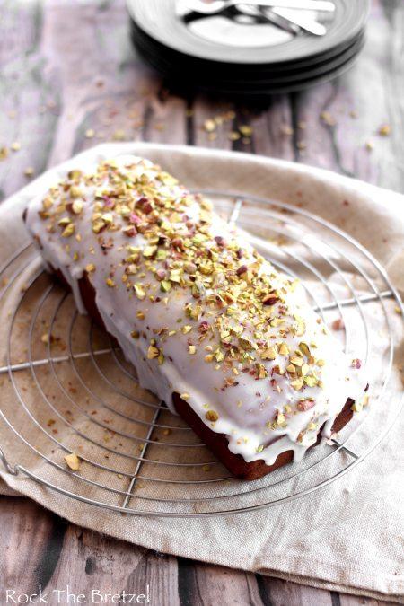 Cake à la pistache et fleur d'oranger de Rock The Bretzel.