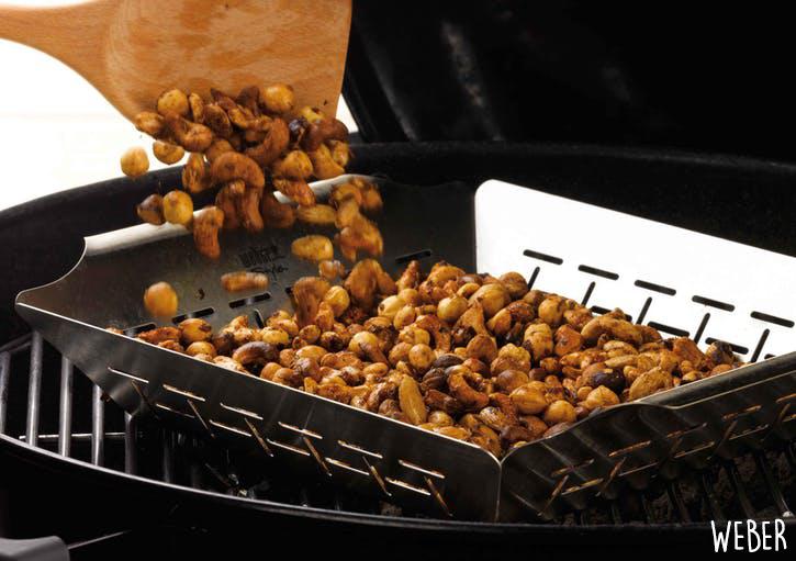 Recette de fruits secs grillés et fumés au barbecue