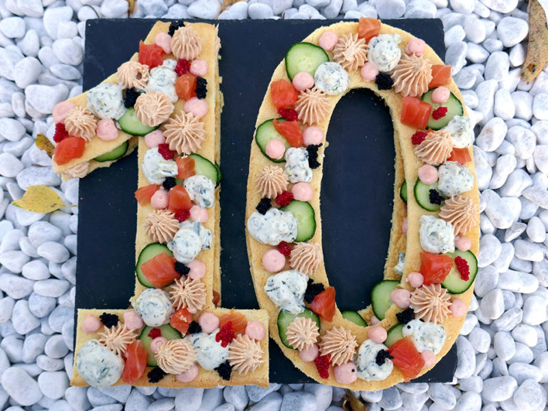 Number cake salé aux saveurs océanes