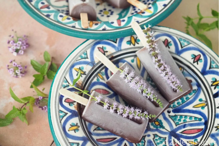 Glace menthe chocolat maison