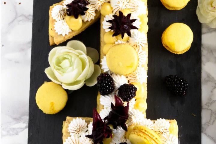 Number Cake au citron meringué