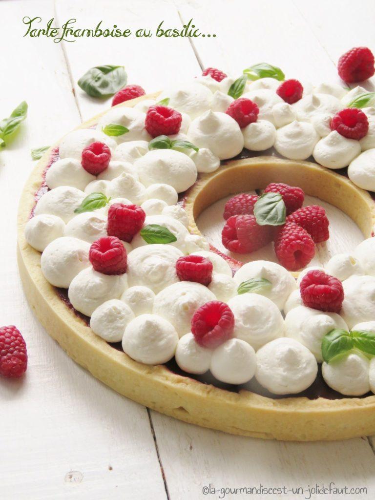 Recette tarte à la framboise et au basilic