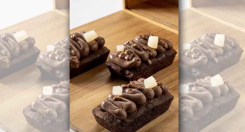 Une gâteau chocolat poire