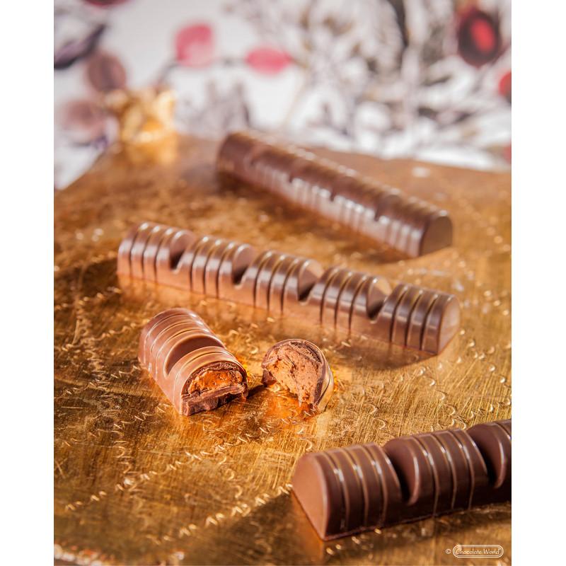 Préparez des barres chocolatées avec le Moule Chocolate World