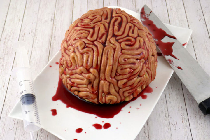 Cerveau façon forêt noire – Recette Halloween