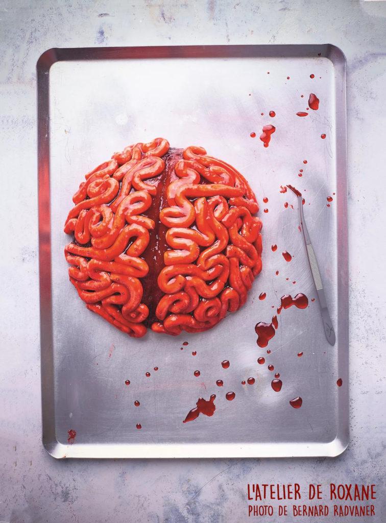 Velvet cake cerveau