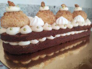 Dessert de fêtes chocolat et cacahuètes