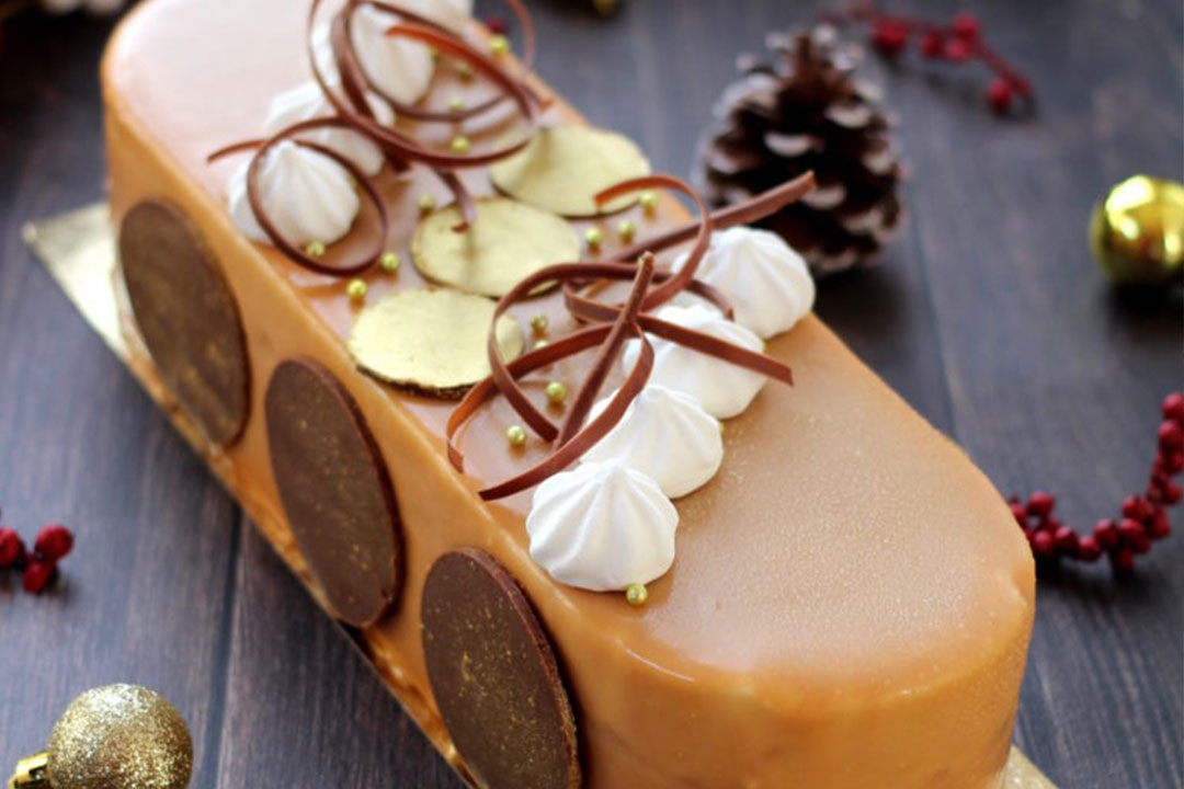 Image Une entremets pomme caramel