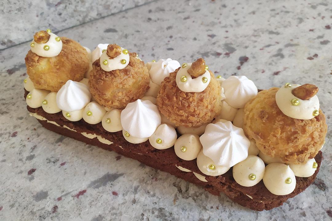Dessert de fêtes réalisé par Les Douceurs de Béatrice. Défi gourmand