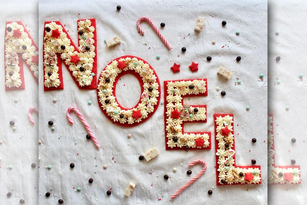Recette Noël - Défi gourmand Letter Cake Vanille.