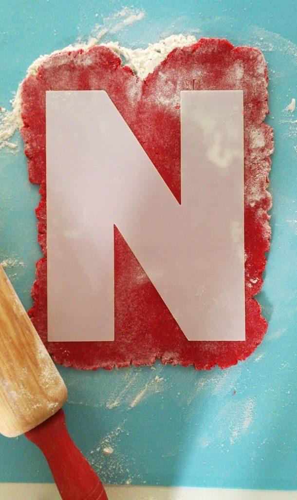 Utilisation du gabarit du Kit Letter Cake Noël.