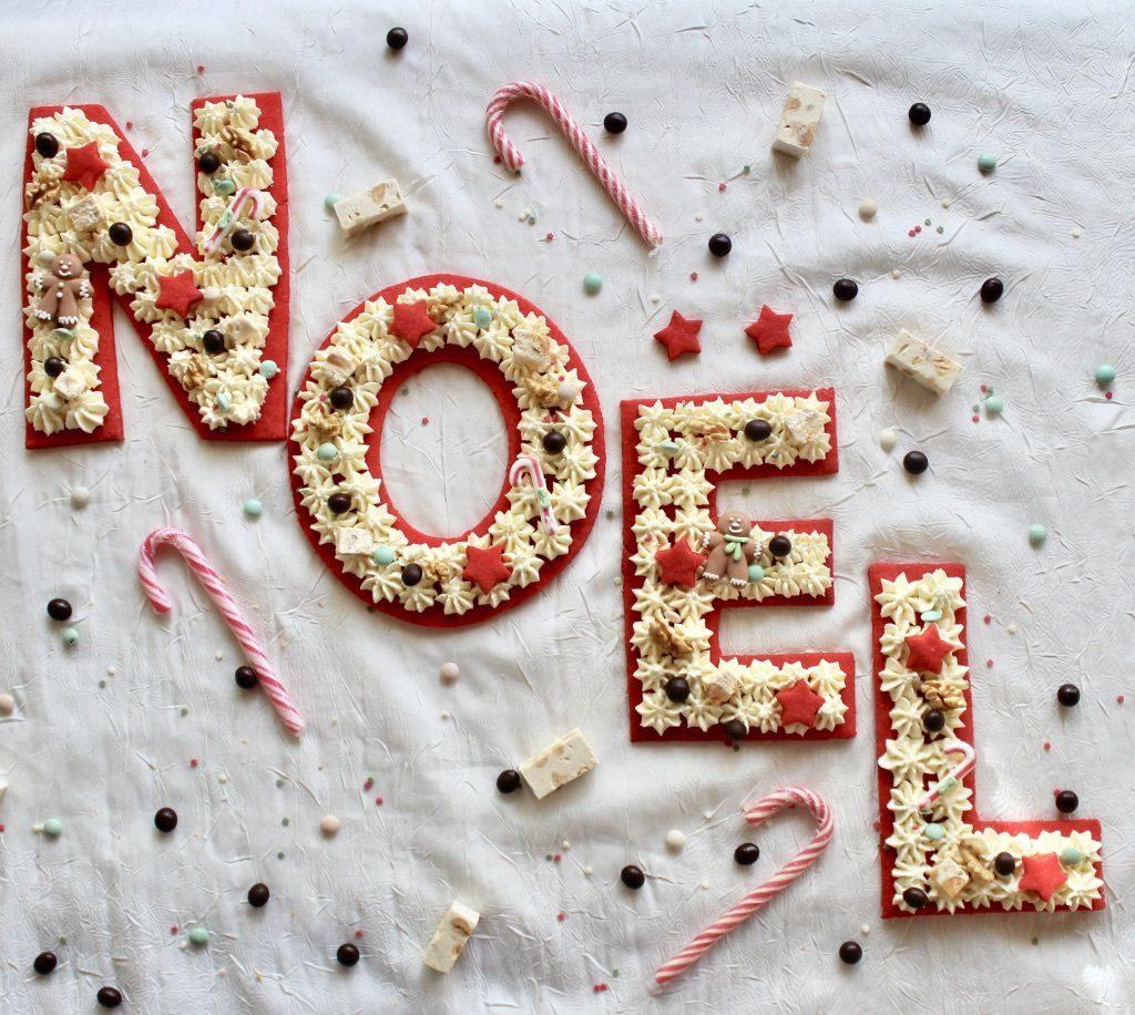 Voici un sublime Letter Cake NOEL !