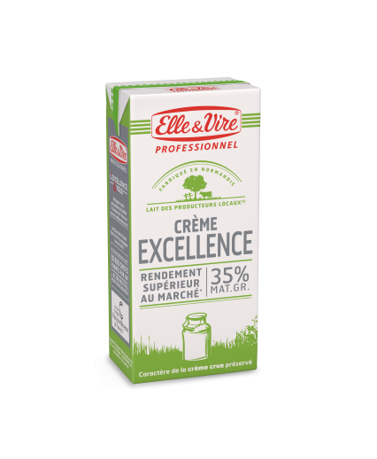Crème excellence Elle et Vire 35% UHT