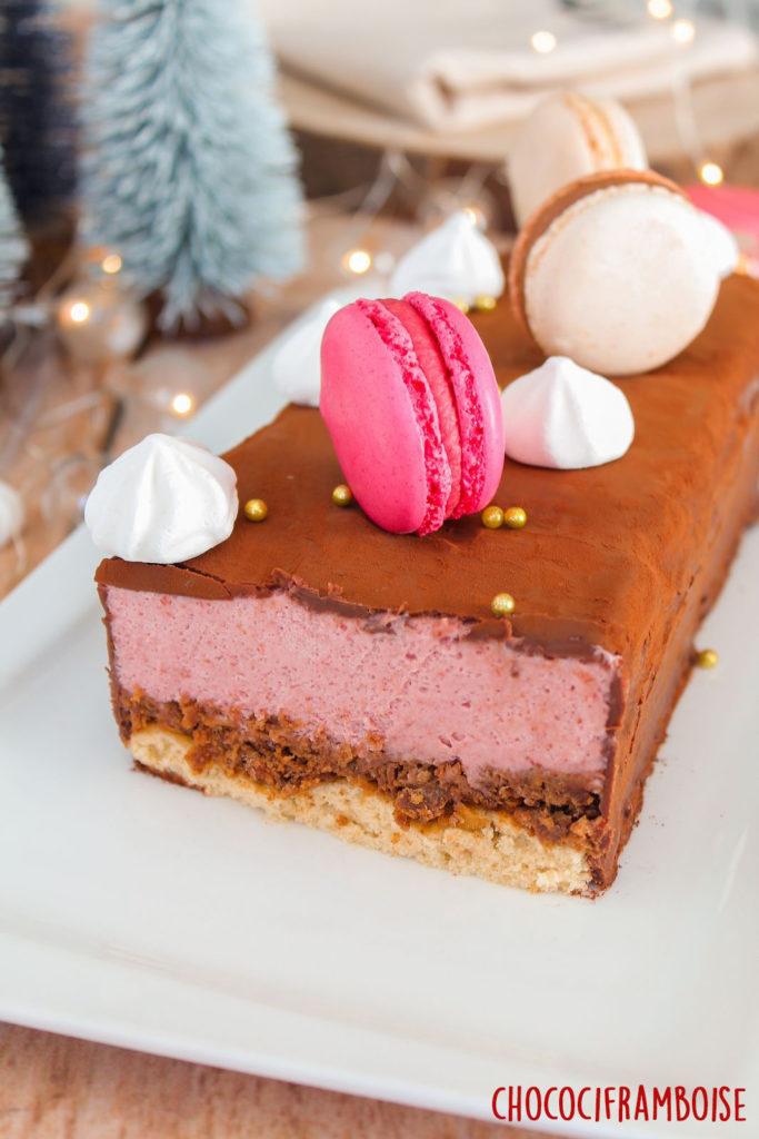 Visuel coupé du dessert de fêtes
