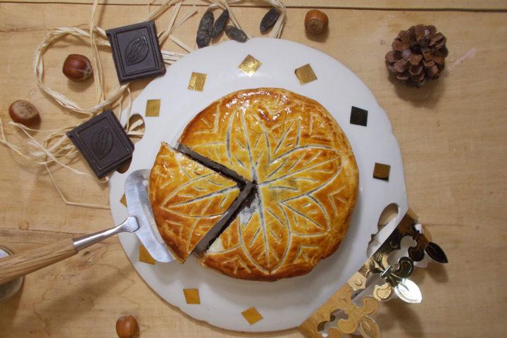 Galette des rois : chocolat, noisette et fève tonka