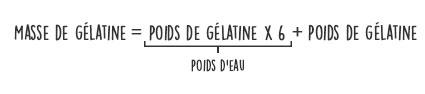 Calcul masse de gélatine en poudre