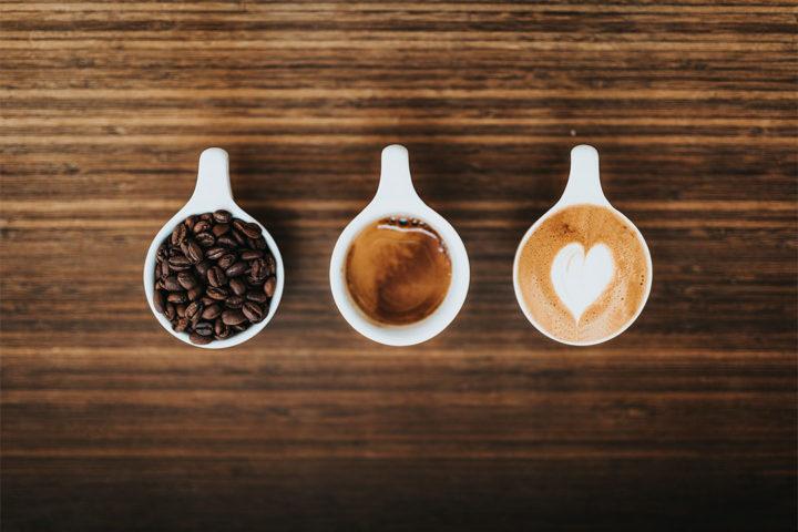 Café latte au pain d'épices