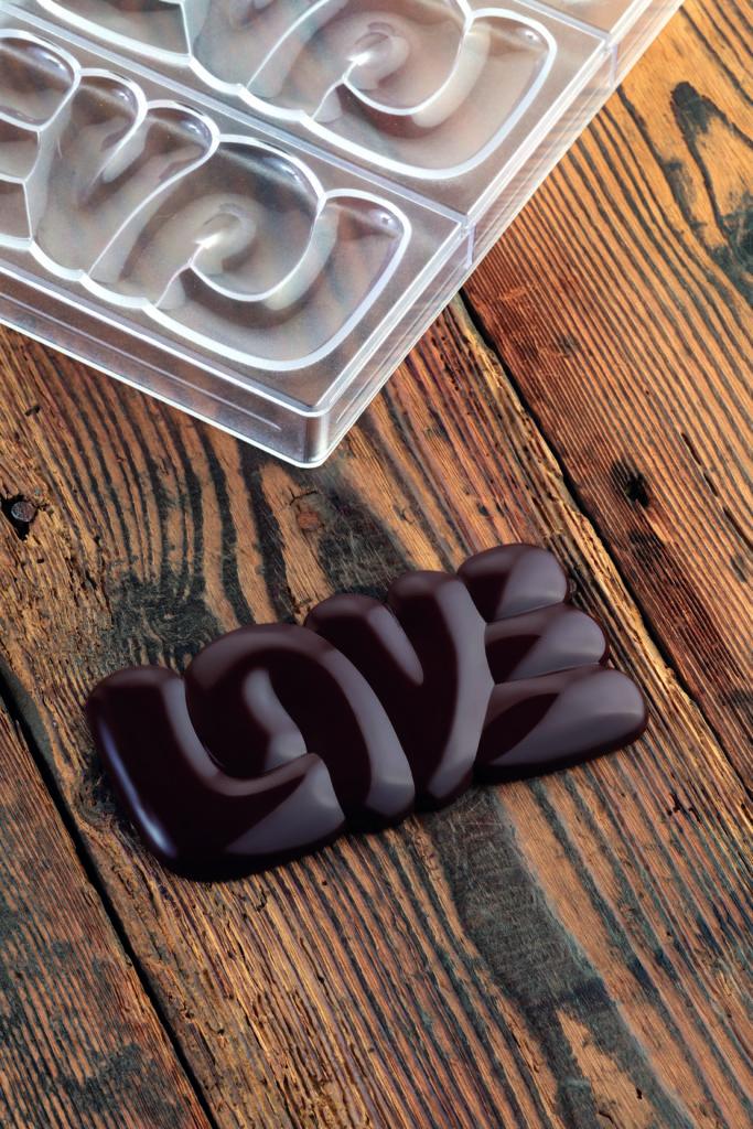 Tablette de Chocolat Love (amour en anglais)