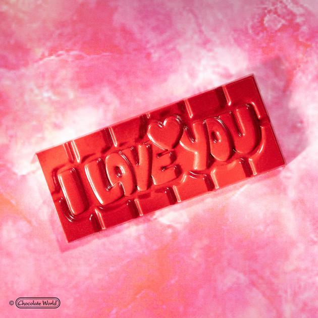 Tablette de Chocolat à message pour la Saint-Valentin