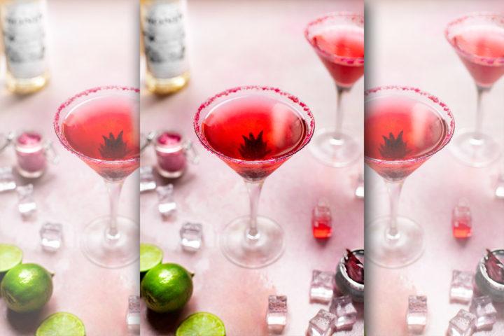 Cocktail Saint-Valentin : Prosecco, rose et fleur de sureau