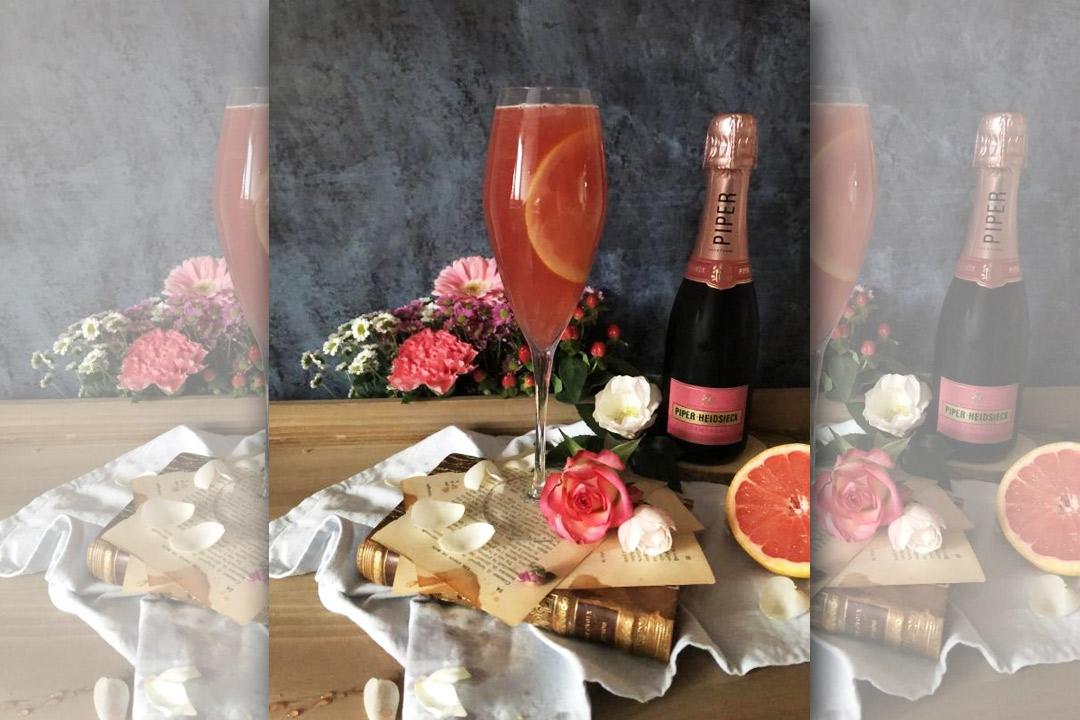 Découvrez une recette de cocktail pour Saint-Valentin à base de Champagné rosé.